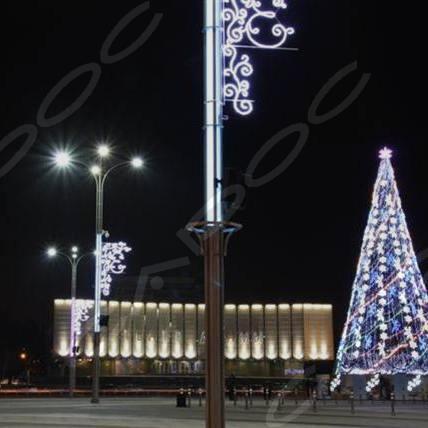 Опора наружного освещения с декоративными вставками Кубань