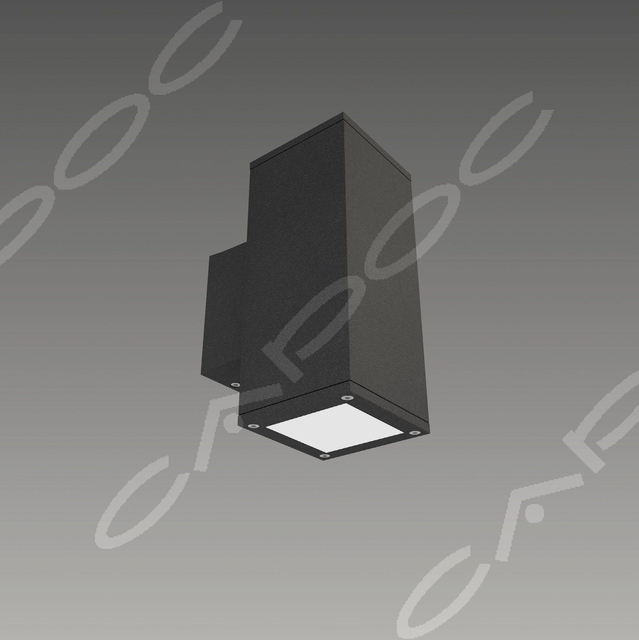 Светильник светодиодный фасадный для декоративной подсветки Бокс