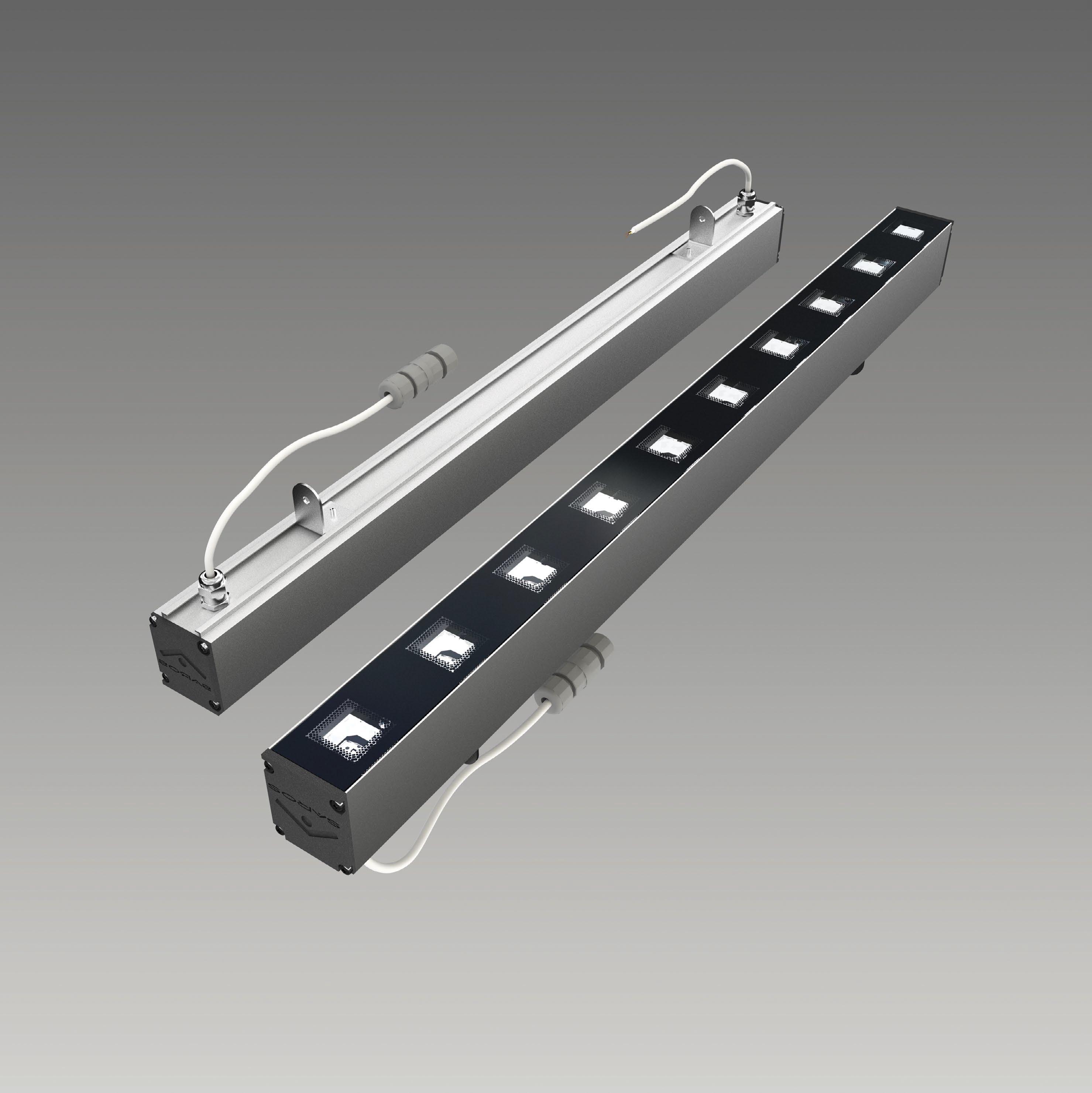 Светодиодный линейный фасадный светильник МидиЛайн